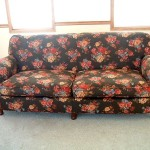 Brown printed sofa velcro bottom